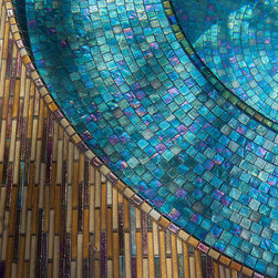 Stunning Retreat - Tile: Oceanside Glasstile www.glasstile.com