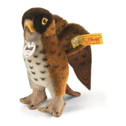 Steiff - Steiff Fredie Hawk Bird - Steiff Fredie hawk bird is made of the finest brown and white mohair. Surface washable. Ages 12 and up. Handmade by Steiff in Germany.