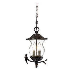 "Acclaim Lighting - Acclaim Lighting 7566 Avian 2 Light 13.5"" Height Outdoor Pendant - Acclaim Lighting 7566 Avian Two Light 13.5"" Height Outdoor PendantThis whimsical exterior pendant from the Avian Collection has a cute bird motif that will delight visitors to your home.Acclaim Lighting 7566 Features:"