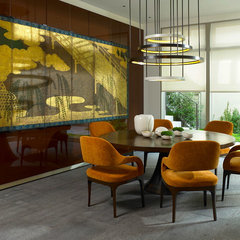 contemporary dining room by Sloan Interiors