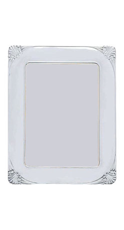 "Silverstar International - 5""x7"" Danielle II Silver Sterling Picture Frame - Memorialize your love for each other by displaying your wedding photograph in our Danielle 15th anniversary photo frame. Featuring a gorgeous shell sterling picture frame design in each curved corner, the Silverstar International 925 bi-laminated Sterling Silver picture frame is meticulously manufactured to an aluminum base for strength & attached to a veneer mahogany wooden back and easel and slide tab closures that allow for easy access to your photos. Every Silverstar picture frame is designed with a tarnish resistant surface for easy cleaning and glare resistant glass."