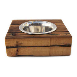 Urban Driftwood Dog Bowl