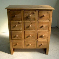 Custom Made Pine 12 Drawer Apothecary - Made by http://www.ecustomfinishes.com