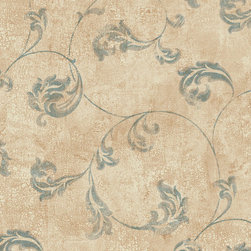 York Wallcoverings - PS3867 Wallpaper, Sample - Prepasted: Paste has already been applied to the back of the wallpaper and is activated with water.