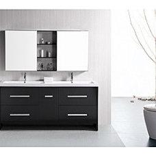 Design Element Perfecta Modern 72-inch Doublesink Bathroom Vanity Set | Overstoc
