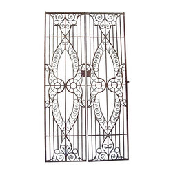 Phenomenal Pair of 19th c. Egyptian Iron Gates - $7,500 Est. Retail - $4,200 on - No longer do I take for granted that I will be able to return to any of the countries I have visited. Case in point, Egypt. I think its safe to say that I wouldn't be able to find authentic iron gates like these again. Oh, and don't forget...I have two pairs of these. How's that for a grand entrance?
