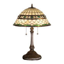 Meyda - 23 Inch Height Tiffany Roman Table Lamps - Color theme: Beige Green Pbagwr Green