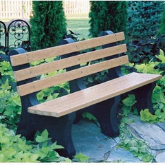 traditional outdoor stools and benches by Hayneedle