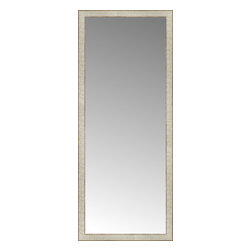 """Posters 2 Prints, LLC - 25"""" x 61"""" Libretto Antique Silver Custom Framed Mirror - 25"""" x 61"""" Custom Framed Mirror made by Posters 2 Prints. Standard glass with unrivaled selection of crafted mirror frames.  Protected with category II safety backing to keep glass fragments together should the mirror be accidentally broken.  Safe arrival guaranteed.  Made in the United States of America"""
