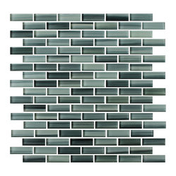 Surfz Up Hand-Painted Glass Mosaic Subway Tile