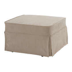 Castro Convertibles™ - Castro Convertible Sleeper Ottoman-Single, Soho Pearl - Castro Convertible™ ottoman with 5 inch thick Castropedic™ innerspring mattress