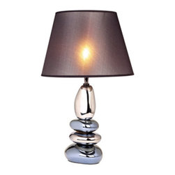 "All the Rages - All the Rages LT1039 Elegant Designs 22.44"" Height 1 Light Table Lamp with Grey - Specifications:"