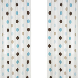 "Sweet Jojo Designs - Blue and Chocolate Mod Dots Window Panels (Set of 2) - Create a stylish look for your child's room with the Blue & Chocolate Mod Dots Window Panels (Set of 2). This set features 2 Window Panels that are 42"" x 84"" each."