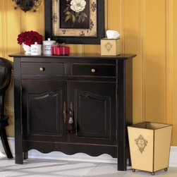 Exmoor Console - This console has it all...great space on top for displaying your treasured pieces and cabinetry below for storing away the items you want to keep out of sight.  Use this piece in a small dining room for serving or in any small room where extra storage is welcome.