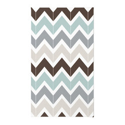 "Contemporary Chevron Rug, 72x48 - Using 100% woven polyester, these premium quality area rugs boast an exceptionally soft touch and high durability. Available in three versatile sizes (36""x24"", 60""x36"", 72""x48"") they are the perfect accent to any room in your home, featuring thousands of designs from your favorite artists on a subtle chevron pattern. Machine washable; non-skid pad not included."