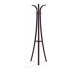 New Spec - Coat Hanger - Features: -European style.-Rubber wood construction.-Walnut finish.-Distressed: No.Dimensions: -72.04'' H x 20.07'' - 72.04'' W x 20.07'' D, 10 lbs.-Overall Product Weight: 10 lb.