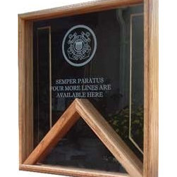 Flag case - Shadow Box - Military Flag and Medal Display Case - Shadow Box with an elegant Walnut / Or Oak