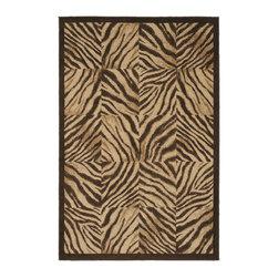 Shaw Industries - Brown Zebra Print Quilt (5'3 x 7'10) - This zebra printed quilt is a fresh approach to animal print that can live easily with almost any d_cor. With a slightly textured look, this quilt is fade and stain resistant and also easy to clean.