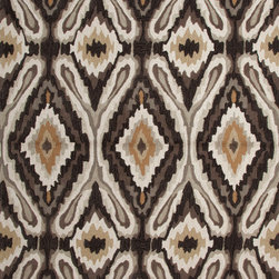 Jaipur Rugs - Transitional Tribal-Pattern Gray/Black Polyester Tufted Rug - A youthful spirit enlivens Esprit, a collection of contemporary rugs with joie de vivre! Punctuated by bold color and large-scale designs, this playful range packs a powerful design punch at a reasonable price.