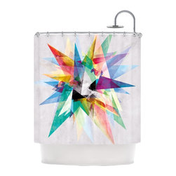 "Kess InHouse - Mareike Boehmer ""Colorful"" Rainbow Abstract Shower Curtain - Finally waterproof artwork for the bathroom, otherwise known as our limited edition Kess InHouse shower curtain. This shower curtain is so artistic and inventive, you'd better get used to dropping the soap. We're so lucky to have so many wonderful artists that you'll probably want to order more than one and switch them every season. You're sure to impress your guests with your bathroom gallery in addition to your loveable shower singing."