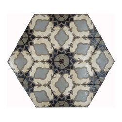 Patterson Collection - Diamond 313 shown in Dove, Cream and Black with accents of Burgundy & Celedon would make an eye popping kitchen floor or backsplash. Choose from over 20 inlay colors to make a one of a kind pattern.