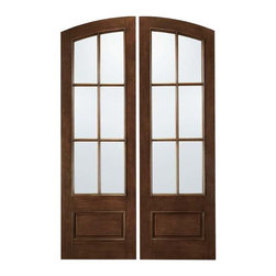 """Jeld-Wen A5506 Arch Top Mahogany Woodgrain SDL Doors Mocha - SKU#A5506BrandJeld-WenDoor TypePatioManufacturer CollectionJeld-Wen Patio Aurora Custom FiberglassDoor ModelDoor MaterialFiberglassWoodgrainMahoganyVeneerPrice$Door Size Options  $Core TypeDoor StyleArch TopDoor Lite Style6 Lite , Arch Lite , 3/4 LiteDoor Panel Style1 PanelHome Style MatchingDoor ConstructionPrehanging OptionsPrehung ConfigurationDouble DoorDoor Thickness (Inches)Glass Thickness (Inches)Glass TypeGlass CamingGlass FeaturesGlass StyleClear IGGlass TextureGlass ObscurityDoor FeaturesDoor ApprovalsDoor FinishesMochaDoor AccessoriesWeight (lbs)850Crating Size25"""" (w)x 108"""" (l)x 52"""" (h)Lead TimeWarranty"""