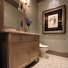 Transitional Powder Room by Design House, Inc