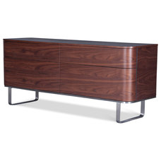 Modern Buffets And Sideboards Dalane Walnut Sideboard