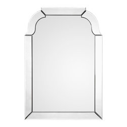 "Mirror Image Home - Mirror Image Home Rounded Rectangular Mirror - Art Deco glamour marks this Mirror Image Home rounded rectangular wall mirror. Simple curved lines create the wall hanging's dramatic look with sparkle and shine. 28""W x 40""H; Mirror; Hanging hardware included"
