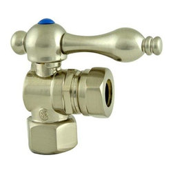 Kingston Brass - Angle Stop with 1/2in. IPS x 1/2in. or 7/16in. Slip Joint - The 1/4-turn angle stop valve features a stylish vintage lever which controls the movement of water through and from plumbing fixtures. The valve is made of solid brass built for durability and dependability and also comes in a variety of finishes to better coordinate your kitchen/bathroom.