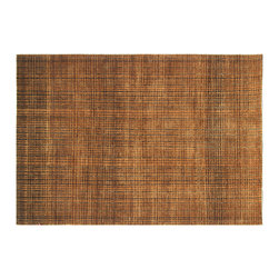 1800-Get-A-Rug - Honey Brown Good Wool Modern Striped Hand Knotted Rug Sh6034 - About Modern & Contemporary