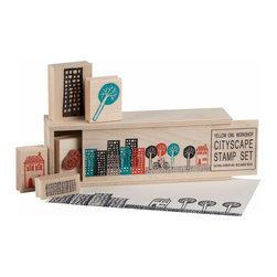 CB2 - Cityscape Stamps (Set of 5) - Crafty friends and architecture fans will have fun putting their stamp on things with this fun set from CB2. Oh yeah, and kids will love them too!