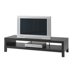 IKEA of Sweden - Lack TV Unit, Black-Brown - This is a great simple and sleek option in a black-brown stain.