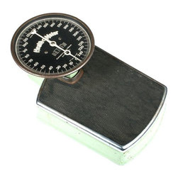 Health-O-Meter Vintage Scale - Special white glove delivery rates of $99 or less apply in the San Francisco Bay Area! Shipping charges will be calculated at checkout. Free local pickup also available. Step back in time when you step on this cool vintage scale. A fantastical antique of the 1950's with a mint green structure. Made by Health-O-Meter, and still works!