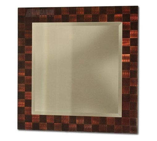 Nova Lighting - Nova Lighting Rootbeer Squared Framed Wall Mirror X-22323BRMW - The gridded frame of this Nova Lighting wall mirror features a beautiful pattern that is accentuated by the warm tones of a Root Beer finish. This contemporary wall mirror also features a classic shape and beveled edge detailing for definition and appeal.