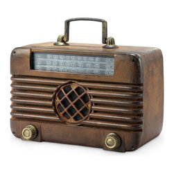 "SPI - Old Time Radio with Bluetooth Speaker - -Size: 10"" H x 11.5"" W x 8"" D"