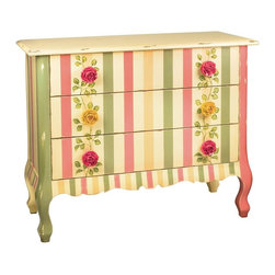 Sterling Lighting - Rose Accent Chest - Three drawers. Made from wood. 42 in. W x 18 in. D x 34 in. H (94 lbs.)