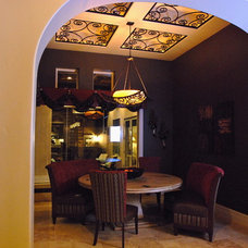 mediterranean dining room by Stadler Custom Homes