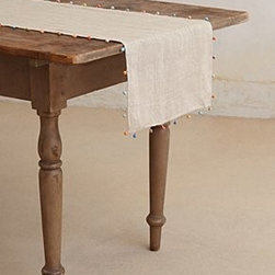 """Anthropologie - Chindi Table Runner - LinenMachine wash72""""L, 16""""WImported"""