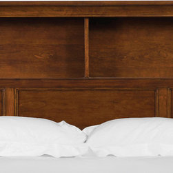 Magnussen Home Furnishings - Riley Bookcase Cherry Finish Twin Bed Headboard - This headboard is constructed of select hardwoods in a rich Cathedral cherry finish. This headboard has a traditional style and features two shelves for easy access.