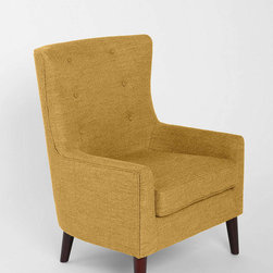 Frankie Chair, Yellow - Who says a traditional room can't have fun, modern details? The simple lines of this chair work well in the saturated color too.