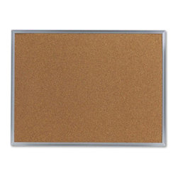 Universal - Universal 24 x 18 in. Natural Cork Bulletin Board with Aluminum Frame Multicolor - Shop for Bulletin Boards from Hayneedle.com! Announce events or provide information by using the Universal 24 x 18 in. Natural Cork Bulletin Board with Aluminum Frame. High on utility and visually appealing it s apt for offices and schools. Made from resilient natural cork material it s self-healing with a dense fiberboard backing. It has a satin-finished wraparound aluminum frame combined with durable corner support for durability. For added convenience it comes with mounting hardware for easily installing the bulletin board.About United StationersDedicated to making life in the office more organized efficient and easier United Stationers offers a wide variety of storage and organizational solutions for any business setting. With premium products specifically designed with the modern office in mind we're certain you will find the solution you are looking for.From rolling file carts to stationary wall files every product in the United Stations line is designed with one simple goal: to improve office efficiency. In turn you will find increased productivity happier more organized employees and an office setting that simply runs better with the ultimate goal of increasing bottom line profits.