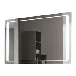 Nameeks - Nameeks   Vanita and Casa Lighted Vanity Mirror 7095-702S - Made in Italy. A part of Vanita & Casa by Nameek's.The Vanita and Casa Lighted Vanity Mirror 7095-702S is crafted beautifully to enhance the natural elegance of your modern bath space. It comes complete with a direct wire and an on/off switch for complete control over the lighted components. The curved corners add to the elegant appeal while the bordered lamp adds a new dimension to your bath. With a defogger function, this mirror conveniently prevents fog even after a hot bath. Includes safety PVC packing. Product Features: