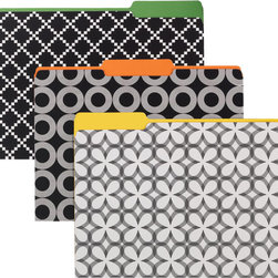 Synchronicity Letter-Size Interior File Folders - These boldly patterned file folders are so much fun. Why not treat yourself?