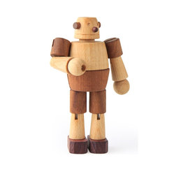 Wooden Robot II - Soopsori's wooden toys are some of the best out there, and this robot is a prime example. With multiple kinds of wood for color and natural oils for sealing, he's a very ecofriendly robot.