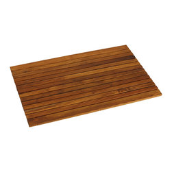 Bare Decor - Cosi Wood Spa String Mat in Solid Teak Wood & Oiled Finish - Escape from the ordinary with this Cosi teak roll up string mat. It will bring the feel of a tranquil spa right into your home. Made of responsibly harvested solid teak wood (tectona grandis), it is naturally resistant to mold and mildew. This teak mat by Bare Decor will last you a long time saving you money and the environment.