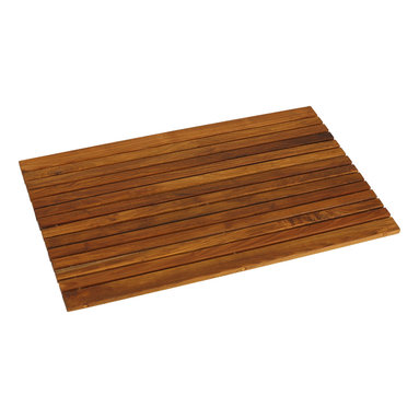 Bare Decor - Cosi Wood Spa String Mat, Solid Oiled Teak - Escape from the ordinary with this Cosi teak roll up string mat. It will bring the feel of a tranquil spa right into your home. Made of responsibly harvested solid teak wood (tectona grandis), it is naturally resistant to mold and mildew. This teak mat by Bare Decor will last you a long time saving you money and the environment.