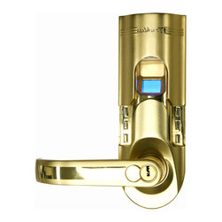 iTouchless - iTouchless Fingerprint Recognition Keyless Door Lock, Gold, Left Handle - So many unpleasant things can result from losing your keys. For one, you are locked out, and then a stranger may find the keys for you, presenting a perfect opportunity to break in. This now causes you to dig into your wallet to buy a brand new door lock, and take more time out of your busy life to go to the store, schedule an appointment with a locksmith, just to wonder how soon it will be before this will all happen again. Don't let your worries take over your life. Enjoy every second of it in peace with your very own personal Bio-Matic Fingerprint Deadbolt Door Lock. Never lose your key again, and put your unique fingerprint to good use!