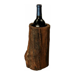 Groovy Stuff - Wishing Well Wine Holder - Each piece is unique and may vary from what is pictured. Use Indoors. Unique Home Furnishings Crafted From Reclaimed and Sustainable Sources. 5 in. L x 5 in. W x 6 in. H