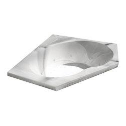 Arista - Donatello 60 x 60 Air & Whirlpool Drop-In Bathtub w/ Center Drain - Right Pump - DESCRIPTION